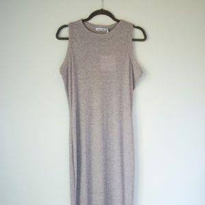 Grey midi column dress